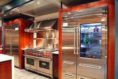 Sub-Zero and Wolf Appliances Living Kitchen Display in NJ Luxury Kitchens Appliances display Kitchen Living SubZero Wolf Kitchen Stove, New Kitchen, Kitchen Dining, Kitchen Decor, Wolf Kitchen, Kitchen Small, Kitchen Ideas, Kitchen Modern, Kitchen Photos