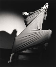 Martha Graham in Lamentation. Took a workshop of hers in college...she was still alive and sat in the corner clapping to the beat of an African drum...it was surreal. Lamenation is still done in her troupe's dance performances to this day. She was a pioneer for sure.