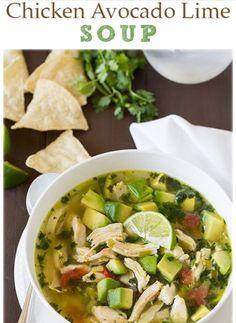Chicken Avocado Lime Soup 🍋