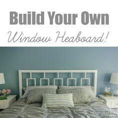 Build your own West Elm inspired window headboard.