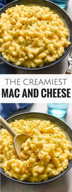 This is the creamiest mac and cheese I have ever made! Super rich, cheddary, and made on the stove top in less than 30 minutes, this recipe is going to be a dinner staple!