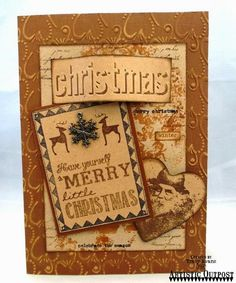 Stamps - Artistic Outpost Christmas Chalk, Snowy Woods