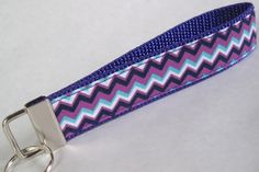Purple Chevron Key Fob - Customizable