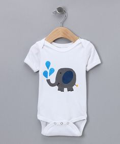 Take a look at this Tiny Tater Tees Elephant Organic Bodysuit - Infant by Simply Organic Collection on #zulily today!
