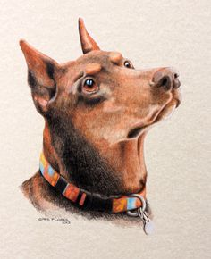 """""""Michaela"""" was drawn using photos taken by her owner Tina Warren of Cheyenne after she won the bidding process during the 2012 Hands in Harmony event."""
