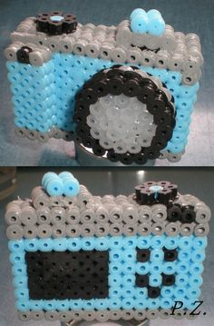 3D Hama Beads Camera by piazobel
