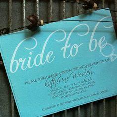 bridal shower/bachelorette party invite