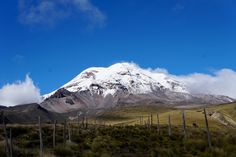 Ecuador a hikers paradise! Photo is of Chimborazo Volcano after hiking down from one of the lodges above the snow line. http://ift.tt/2EcJWYH