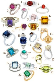 A guide to engagement rings with colorful stones