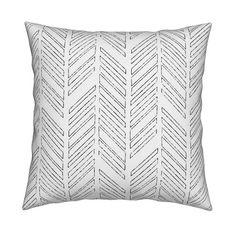 31d2725f136 Chevron Throw Pillow - Distressed Chevrons by red raspberry designs -  Herringbone 18
