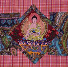 buddha tea towel paisley by handyjan on Etsy