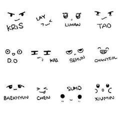 Exo Faces Lol So cute :)