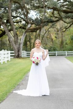 | sleeveless wedding dress | classic wedding gown | 90s style wedding dress | 2019 wedding gown trends | wedding style trends | simple wedding dress | brides of houston | weddings in houston | houston wedding photographer | wedding gown ideas | wedding dress ideas | southern bride | bride style | photo taken at THE SPRINGS Event Venue. follow this pin to our website for more information, or to book your free tour! SPRINGS location: Magnolia Manor in Angleton, TX photographer: Janna Morris…