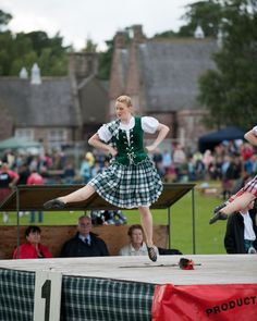 At Aboyne, you dance the sword in Aboyne dress. Gemma Baillie - Aboyne Highland Games 2009