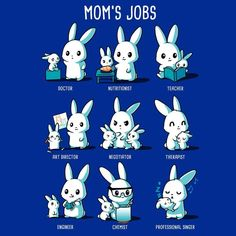 Mom's Jobs https://www.teeturtle.com/products/moms-jobs?variant=34358216969 #MothersDay #May