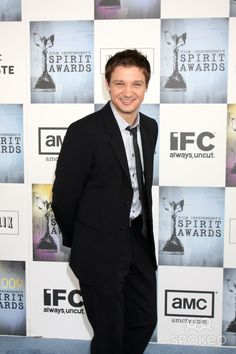 Jeremy Renner arriving at the Film Indpendent's 24th Annual Spirit Awards on the beach in Santa Monica, CA on February 21, 2009