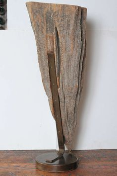 Large Organic Cypress Knee Sculptural Expression on Iron Mount 8