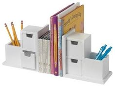 Keep the desk top neat with these great multi purpose book ends
