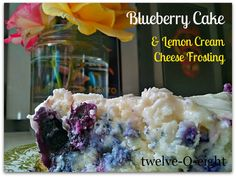twelve-O-eight: Blueberry Cake With Lemon Cream Cheese Frosting   # Pin++ for Pinterest #