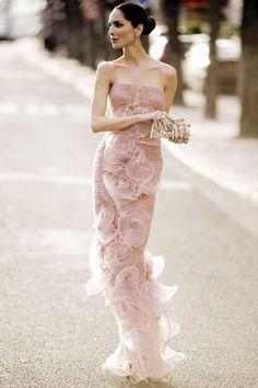 бледно розовое вечернее платье из шелка - Поиск в Google