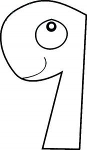number two coloring page Numbers Pinterest Numbers Math and