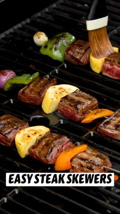 Grilling Recipes, Meat Recipes, Cooking Recipes, Healthy Recipes, Kabob Recipes, Healthy Vegan Snacks, Barbecue Recipes, Carnivore, Beef Dishes