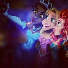 ♡♥Modern Disney Princesses♥♡ #selfie