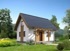 Martin LMW18 - zdjęcie 1 Simple House Plans, Apartment Layout, Sims House, Gazebo, Outdoor Structures, House Styles, Home Decor, Houses, Projects