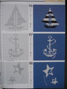 Узоры спицами.Жаккардовые, норвежские, цветные узоры №71-90