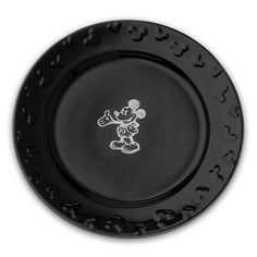 Gourmet Mickey Mouse Dinner Plate Set - Black/White