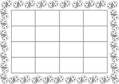 Plansza do Bingo 4x4. Kości na matematyce. DARMOWE druki.