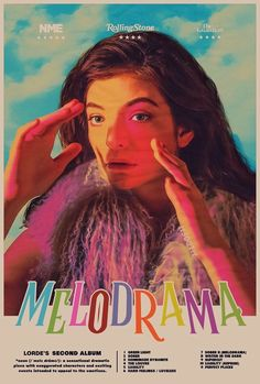 L U K A — MELODRAMA Bedroom Wall Collage, Photo Wall Collage, Picture Wall, Lorde, Dorm Posters, Band Posters, Movie Posters, Poster Wall, Poster Prints