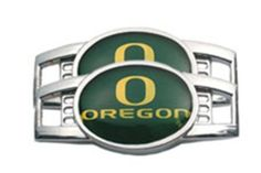 "University of Oregon Ducks Tennis Shoe Charm Set by ProCharms. $14.00. Set of 2 Shoelace Charms. Officially Licensed Oregon Ducks Tennis Shoe Charm Set. Unisex Adults. Metal. 1.25 Inches x 0.5 Inches. NCAA College shoe charms. These Oregon Ducks shoe things are charms that go on your shoelaces. Turn regular shoes into something special. Set of 2. Approximately 1.25"" x 0.5"". Go Ducks!. Save 26%!"