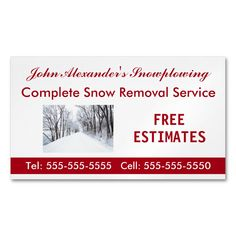 Shop Snowplowing, Snow Removal, Service Business Business Card Magnet created by MtotheFifthPower. Snow Removal Services, Shoveling Snow, Magnetic Business Cards, Standard Business Card Size, Stick It Out, High Gloss, Keep It Cleaner, Magnets, Gender