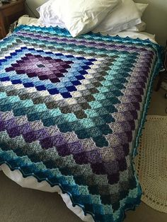 Gorgeous idea for a blanket