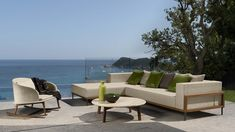Talenti Srl | Cleo. Talenti outdoor furniture from Italy. Sofa, armchairs, chairs, rocher. Luxury. Coastal living.