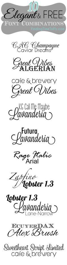 10 Elegant and Free Font Combinations