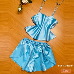 Luxury Silk Pajama Set PDF Pattern | Sleep Wear PDF Pattern | Night Wear Digital Pattern