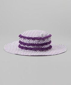 Loving this Grape Polka Dot Poolside Bucket Hat on #zulily! #zulilyfinds