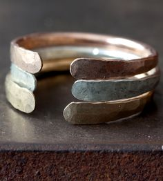 Open Cuff Ring | Perfect for layering, each cuff ring is forged and hammered by... | Necklaces