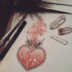 Available Snap it up by seeing me at The Projects Tattoo or email me sophie.adamson@hotmail.co.uk #tattoo #design #crystals #heart #candletattoo #neotraditional #ntgallery #uktattoo #plymouth #drawing