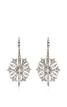 Diamond Gothic Starburst Earrings by Bochic