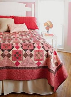 cute scrappy quilt and nice photo