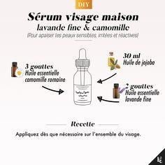 DIY: facial serum for sensitive, reactive and irritated skin Facial Serum, Facial Care, Beauty Care, Diy Beauty, Best Skin Care Routine, Diy Spa, Healthy Skin Care, Beauty Tutorials, Diy Skin Care