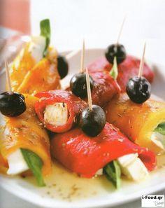 Ρολά με πιπεριές και μοτσαρέλα βουβαλίσια - Συνταγή i-Food.gr by Giorgio Spanakis