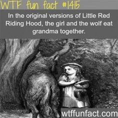 WTF Fun Fact# 1415 The original Red Riding Hood. Creepy much? Creepy Facts, Wtf Fun Facts, True Facts, Funny Facts, Random Facts, Strange Facts, Creepy Things, The More You Know, Did You Know