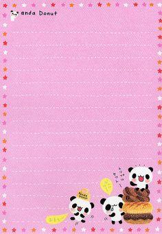 Panda Cookie Note Sheet
