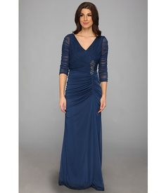 Adrianna Papell Drape Covered Gown