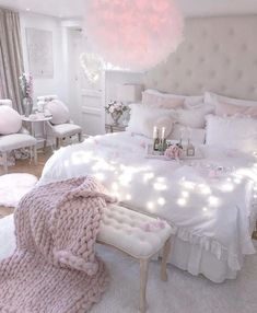 Cute Bedroom Decor, Bedroom Decor For Teen Girls, Cute Bedroom Ideas, Girl Bedroom Designs, Stylish Bedroom, Room Ideas Bedroom, Teen Bedroom, Bedroom Ideas For Women, Teenage Bedrooms