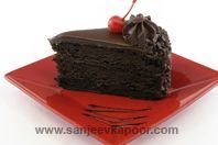 Rich Chocolate Cake With Cherries: Beautiful cake with pairing of rich chocolate and cherries.
